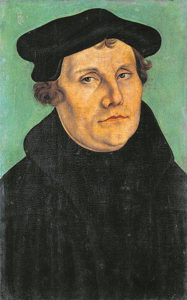 Luther-Darstellung von Lucas Cranach d. Ä.