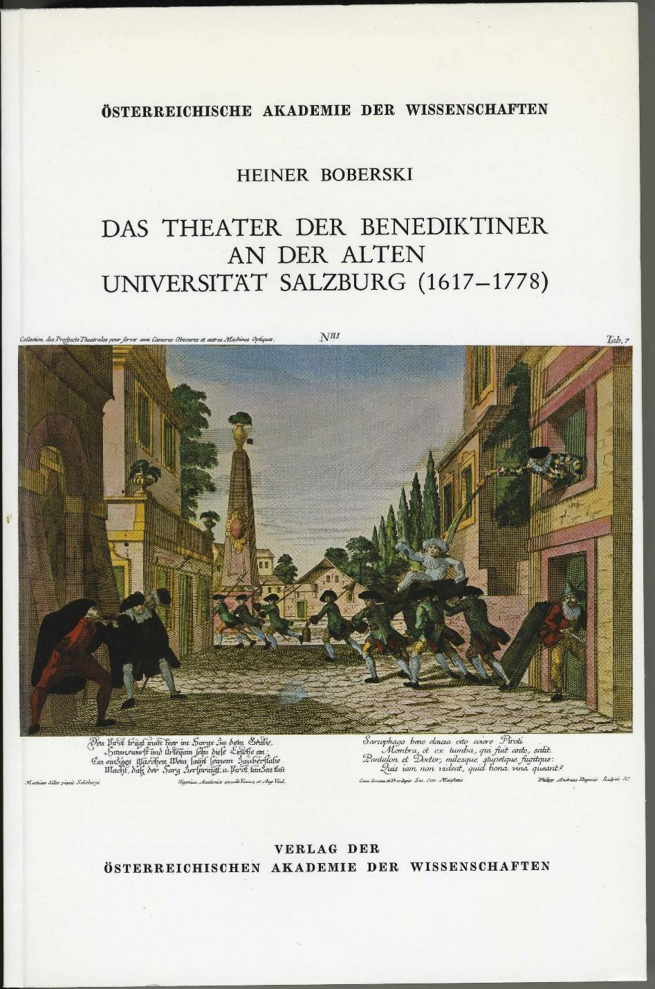 Das Theater der Benediktiner an der alten Universität Salzburg (1617–1778)