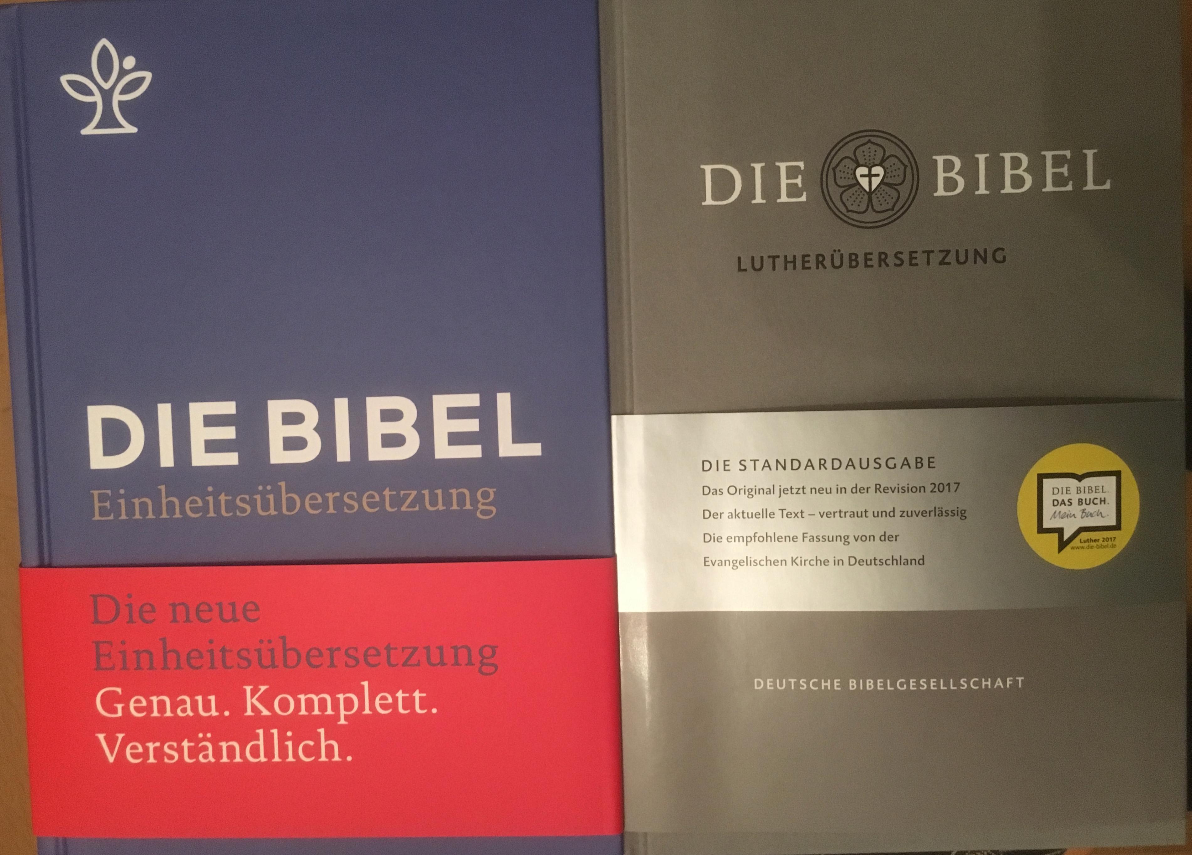 Einheitsübersetzung und Lutherbibel neu