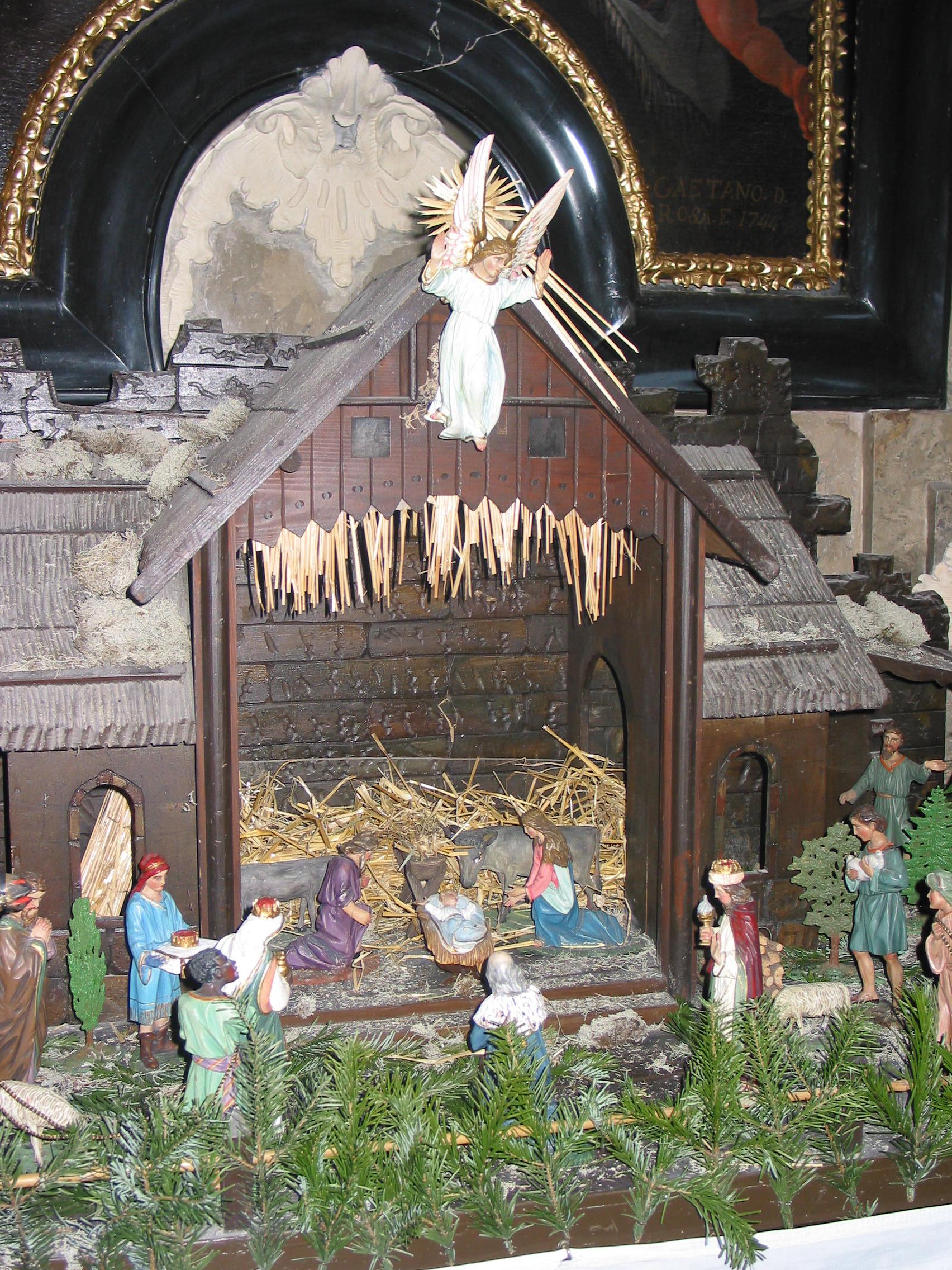 Krippe in der Pfarrkirche Ober St. Veit in Wien